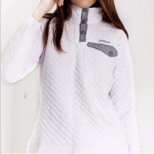 SPYDER White Quilted Lightweight Pullover sz XL